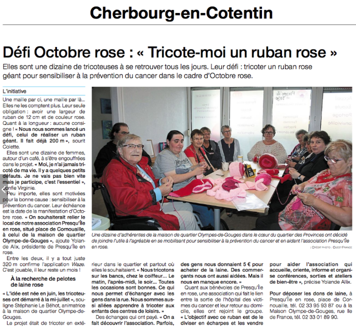 Ouest France – 11 septembre 2018