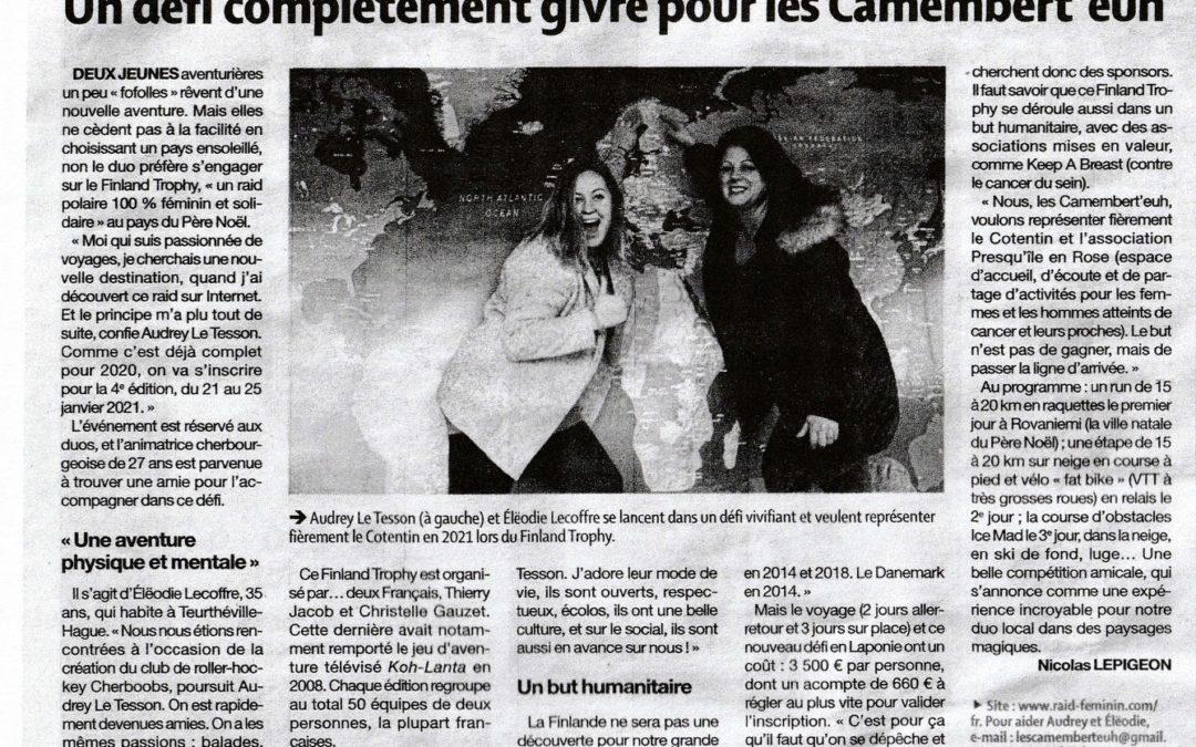 Les Camembert'euh vont représenter Presqu'Ile en Rose au Finland Trophy !