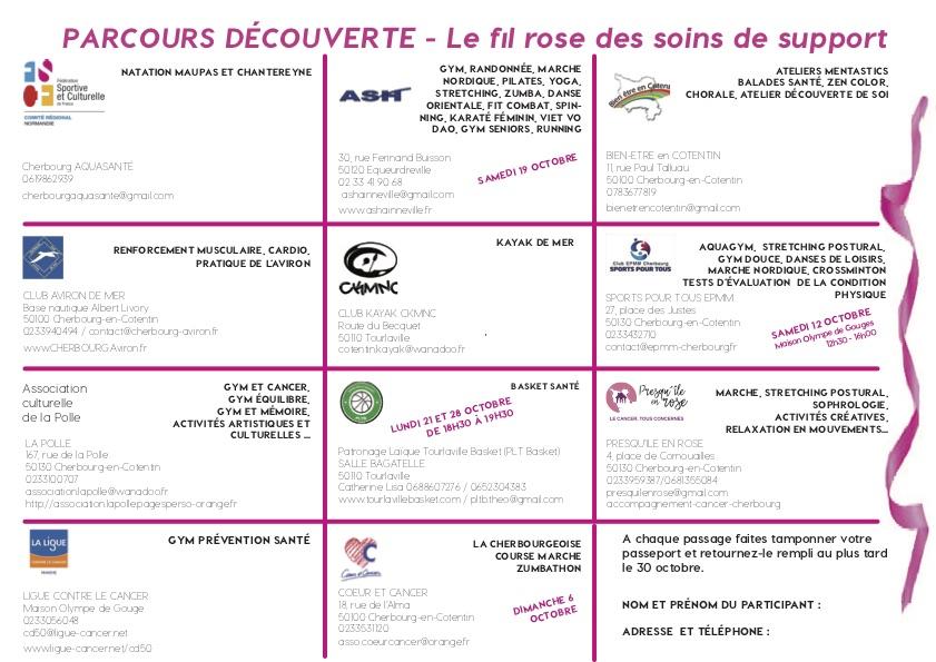 Passeport découverte Octobre Rose